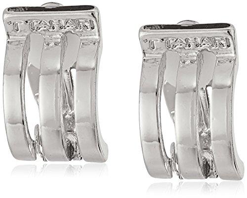 t-tahari-silver-3-band-mini-hoop-clip-on-earrings