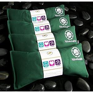 Happy Wraps Namaste Yoga Lavender Eye Pillow Green Set of 4