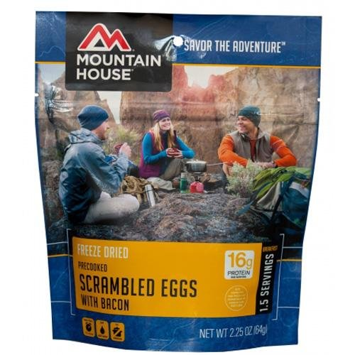 Mountain House Scrambled Eggs With Bacon Single Serving ()