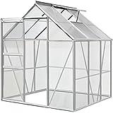 Aluminium Gewächshaus 5,85m³ / 7,6m³ Alu Gartenhaus Treibhaus Frühbeet