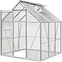 Invernadero de aluminio, 7,6m³, M3, jardín, semillero, plantas