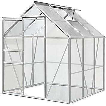 Invernadero de jardin | aluminio y policarbonato (PC) | 5, 85m³ | 190 x 195 x 180cm | 3, 7m²: Amazon.es: Jardín