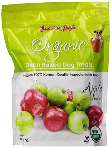 GRANDMA LUCY'S 844193 Organic Baked Apple Treat for Dogs, 14-Ounce (Pack of 3)