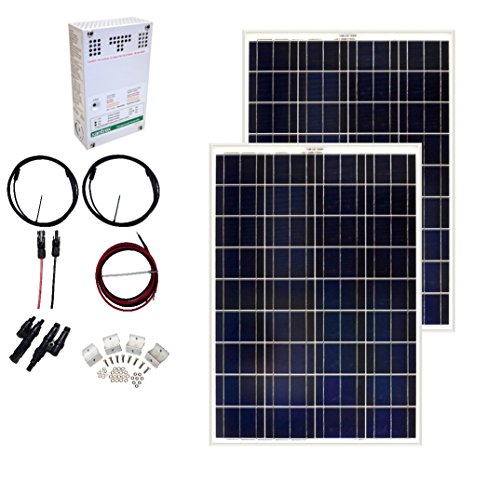 Grape Solar GS-200-CKIT-A 200W Solar Charging Kit for 12/24V Battery Banks by Grape Solar