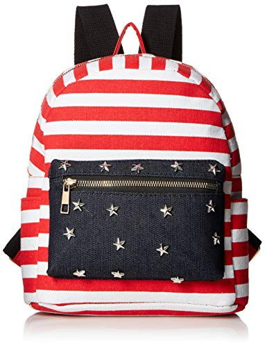 Twig & Arrow Women's Stripes & Stars Mini Dome Backpack, Denim