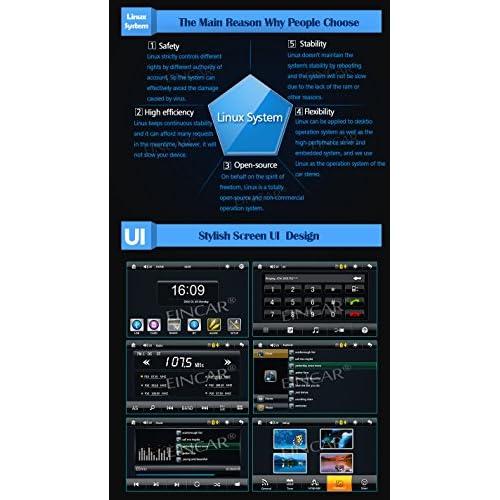Cam¨¦ra de recul sans fil inclus Linux EinCar MP5 Double Din dans Dash Radio FM voiture 2DIN 7 pouces Car Stereo Vid¨¦o Syst¨¨me audio Bluetooth Mirror Link USB SD Fonction well-wreapped