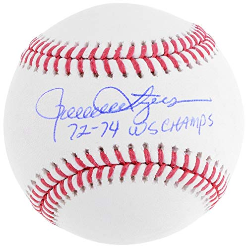 (Rollie Fingers Oakland Athletics FAN Autographed Signed Baseball With 72-74 Ws Champs Inscription - Certified Signature)