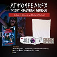Atmosfearfx Night Stalkers DVD, 3000 Lumen Video Projector Bundle, Video Projection Screen and a Flash Drive.