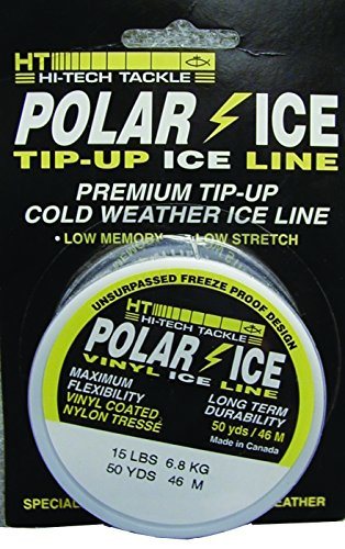 (HT Enterprises Polar Ice Tip-Up Line Vinyl, 25 Yard, 25-Pound, Clear)