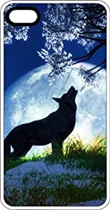 Wolf Under A Tree Howling At The Full Moon Clear Rubber Case for Apple iPhone 5 or iPhone 5s