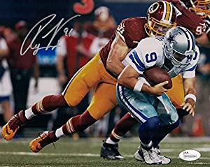 Ryan Kerrigan Autographed Washington Redskins 8x10 Photo (Sack Romo) JSA
