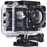 Digital Camera Camcorders Sipring Lightweight Mini 1080P Full HD DV Sports Recorder Car Waterproof Action Camera Camcorder (Black)