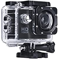 Digital Camera Camcorders Sipring Lightweight Mini 1080P Full HD DV Sports Recorder Car Waterproof Action Camera Camcorder (Black)