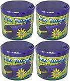 (4 Pack) Ware Plastic Small Pet Fun Tunnel, Large, Purple/Green