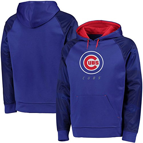 Majestic Men's Big & Tall MLB Armor II Therma Base Pullover Hooded Sweatshirt (2XL, Chicago Cubs)