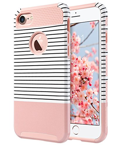 iPhone 7 Case, ULAK Colorful Series Slim Hybrid Scratch Resistant Hard Back Cover Shock Absorbent TPU Bumper Case for Apple...  iphone 7 cases for women | Top 10 iPhone 7 Cases! (Cute Edition for Girls)! 51f7OB 2B790L