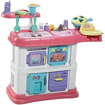 Amazon Com Fisher Price Grow With Me Cook And Care Pink