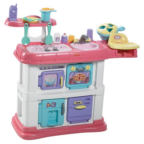 Fisher-Price Grow with Me Cook and Care Pink Kitchen -