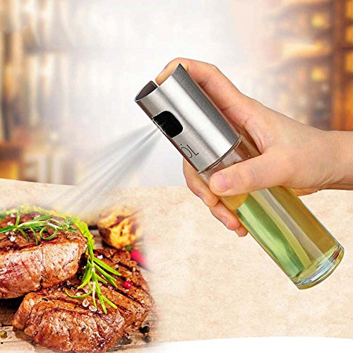2 Pack Glass Olive Spraying Oil Bottle Food-Grade Cooking Sp