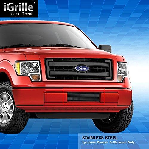 Off Roader Black Stainless Steel Egrille Billet Grille Grill For 2009 2014 Ford F 150 Lower Bumper