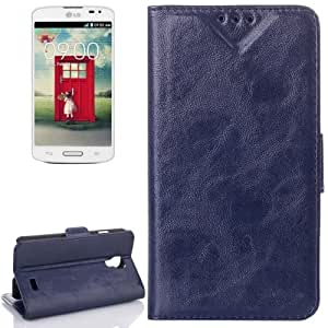 Oil Funda con tapa Case Cover Card Slot & Holder para LG F70 D315% 2F (Blue)