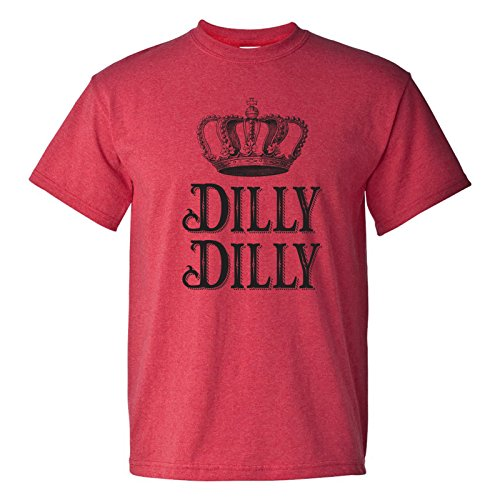 Dilly Dilly - Funny Beer Drinking True Friend Of The Crown T Shirt - X-Large - Heather - T-shirt Mens Crown