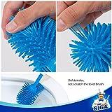 MR. SIGA Soft Bristle Toilet Brush with Holder