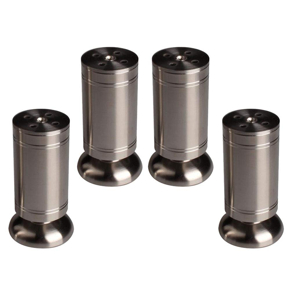 8cm Metal Table Legs X4, Adjustable Sofa Support Legs Coffee Table Bed Feet Thick Stainless Steel Cabinet Feet (818cm High)