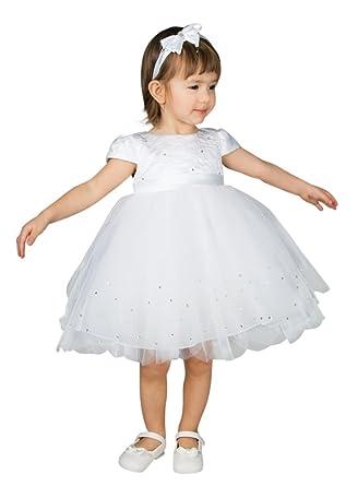 11063f120926b Robe de baptême bébé fille blanche tulle et strass - Blanc - 3 mois -  PRODUIT