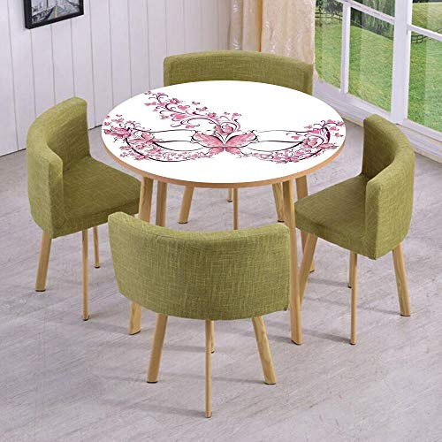 (Round Table/Wall/Floor Decal Strikers,Removable,Masks Carnival Dress Centuries Old Tradition of Venice Theme Design Print,for Living Room,Kitchens,Office)