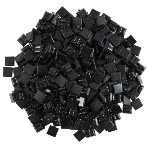 Mosaic Diamond Tile (Jennifer's Mosaics 3/8-Inch Venetian Style Glass Mosaic Tile, Black, 8-Ounce)