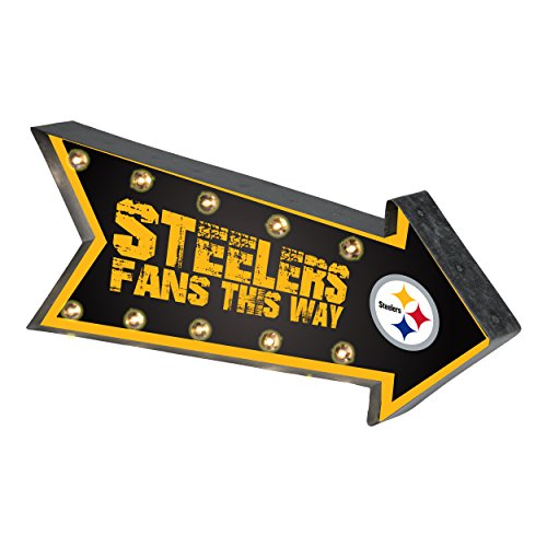 Pittsburgh Steelers NFL Team Logo Light Up Marquee Wall Sign
