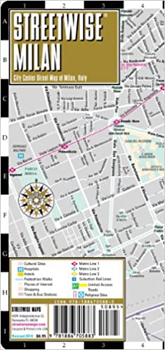 Milan Map Of Italy.Streetwise Milan Map Laminated City Center Street Map Of Milan
