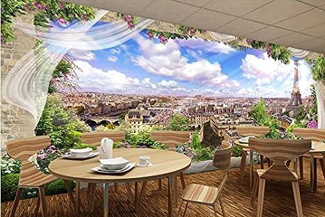 LWCX Custom Stereoscopica In 3D Wallpaper Francese Europeo Parigi ...