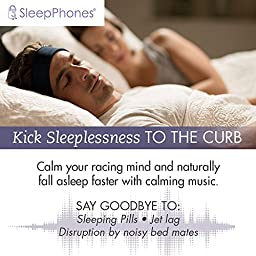 AcousticSheep SleepPhones Classic Sleep Headphones (Black, Medium - One Size Fits Most)