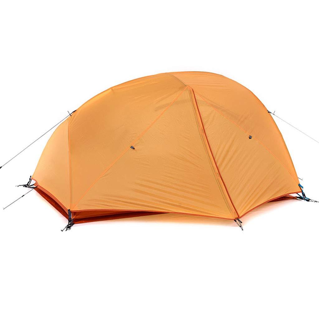 HAOHAOWU Tenda famigliare, Tenda Alpinismo 1-3 Persone Tenda Doppio Strato Impermeabile, Antivento, Perfetto per la Spiaggia, Viaggio Outdoo, Campeggio,arancia