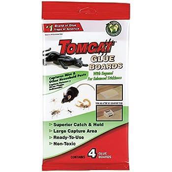 Tomcat Glue Boards (Captures Mice and Other Household Pests, Eugenol Formula, 4-Pack)