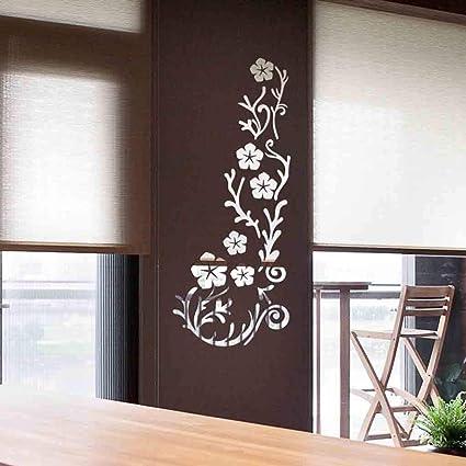 Amazon.com: Quaanti Acrylic Art 3D Mirror Flower Wall ...
