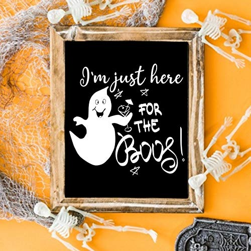 Printable Halloween Decoration Ideas (Remy Store I'm just here for The boos SVG, Funny Ghost Shirt, Halloween Shirt Designs, Ghost Halloween Decoration, Printable Halloween Sign, Ghost)
