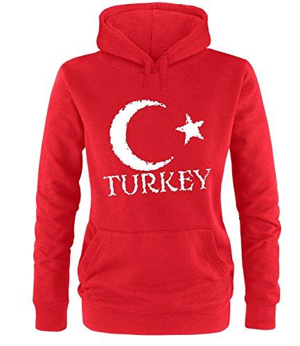 Luckja EM 2016 Trikot Türkei Fanshirt EM01 Damen Hoodie