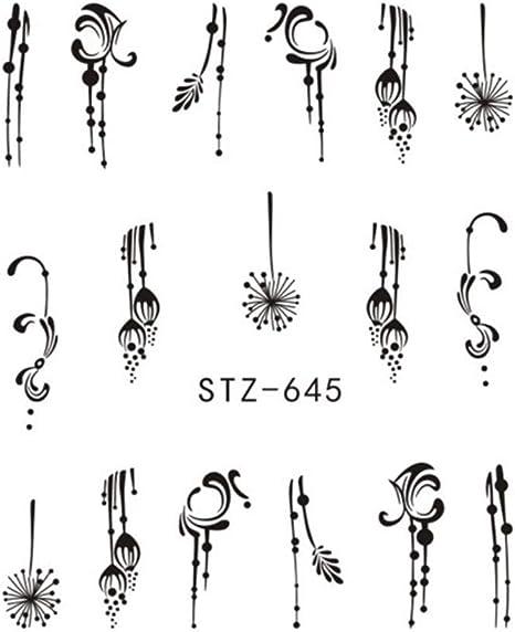 Amazon Co Jp 1 Sheet Spider Poker Nail Sticker Water Transfer Decal Slider Design Manicure Watermark For Diy Nail Art Decor Color Stz645 Home Kitchen