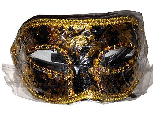 Masquerade Mask. Venetian Italian Half Face Mask (Black) (Fancy Face Masks)