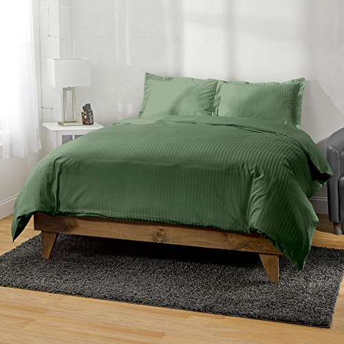 400 Thread Count Egyptian Cotton Striped 3pc Duvet Cover by