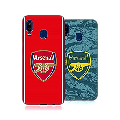 Official Arsenal FC 2019/20 Crest Kit Soft Gel Case Compatible for Samsung Galaxy A20 / A30 2019