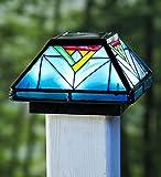 Plow & Hearth 53383 Artisan Glass Solar Post Cap Light