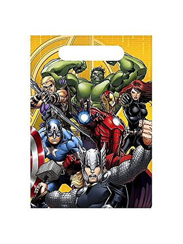 Avengers Assemble Favor Bags Loot Bags (8 per package) (Avengers Party Favours)