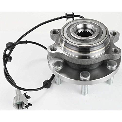 Evan-Fischer EVA16572045917 Wheel Hub Assembly for Nissan Frontier 05-12 Front 6 x 114.3 mm PCD Bolt Pattern 4-Bolt Modified Rectangle (Flange Bolt Pattern)