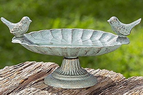 Home Collection Vogeltränke Schale mit 2 Vögeln 24cm Gusseisen grün unbekannt
