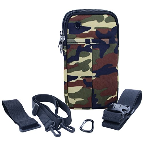 - U-TIMES 4 in 1 Multiple Function Shoulder Bag Waist Bag Wrist Pouch Tactical Pack For Phone & Daily Life Necessities - Soft & Water Resistant(Camouflage)