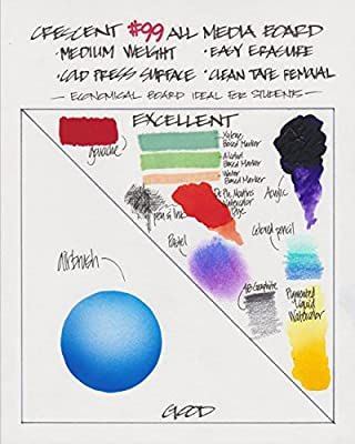 """Crescent Creative Products SP99-0507 40 Count No.99 Cold Press Bulk Pack Illustration Board, 5"""" by 7"""""""